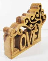Wood Sculpture - Love Tree