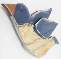 Wood Wall Art - Shabby Chic Pair Of Flying Birds