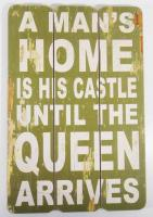 Wooden Wall Art - A Man's Home Sign Green