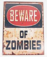 Wooden Wall Art - Beware Of Zombies Sign