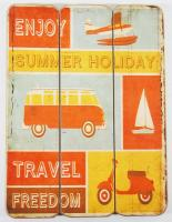 Wooden Wall Art - Camper Holiday Sign