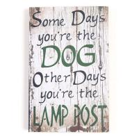 Wooden Wall Art - Dog And Lamp Post Sign