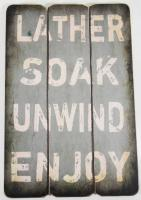 Wooden Wall Art - Soak Sign Blue