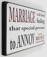 Wooden Wall Art -  Marriage Sign
