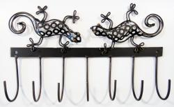 Metal Coat Hook With Gecko Detail