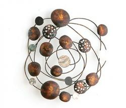 Metal Wall Art - Rustic Abstract Solar Swirl
