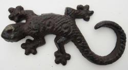 Small Solid Cast Iron Gecko