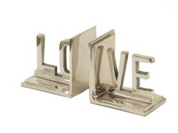 Aluminium Love Bookends