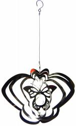 Large Butterfly Stainless Steel Wind Spinner with Crystal