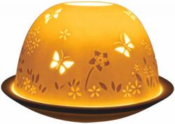 Candle Holder - Butterfly Glow Dome