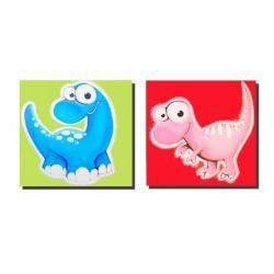 Canvas Wall Art - 2 Dinosaur Panels