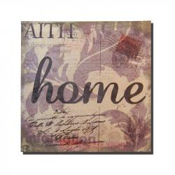Canvas Wall Art - Home Letter