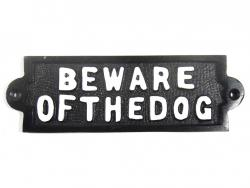 Cast Iron Sign - Beware Of The Dog
