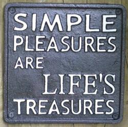 Cast Iron Sign - Simple Pleasures