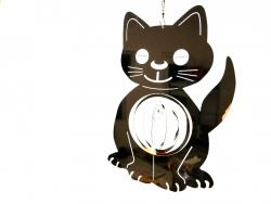 Cat Stainless Steel Wind Spinner