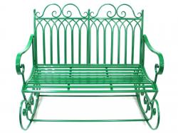 Garden Rocking Chair Bench - Green