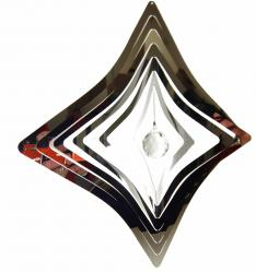 Large Diamond Stainless Steel Wind Spinner With Crystal