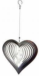 Large Heart Stainless Steel Wind Spinner
