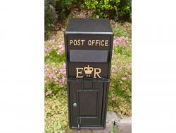 Large Replica Wall Mounted Royal Mail ER Post Box Or Letter Box - Black