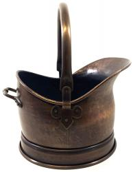Medium Antique Finish Helmet Coal Scuttle Bucket