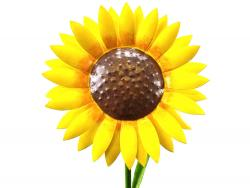 Medium Metal Garden Flower Stake - Sunflower Design