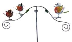 Metal Garden Wind Vane Spinner - Bird Design