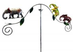 Metal Garden Wind Vane Spinner - Elephant Design