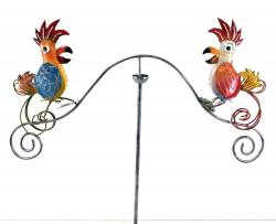 Metal Garden Wind Vane Spinner - Funky Bird Design