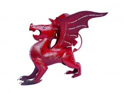 Metal Sculpture - Welsh Dragon Ornament