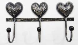 Metal Triple Heart Coat Hook
