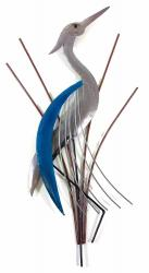 Metal Wall Art - Abstract Heron Head Facing Up