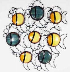 Metal Wall Art - Bubble Fish School