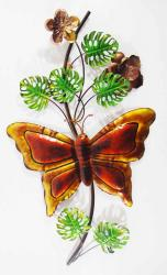 Metal Wall Art - Butterfly Stem