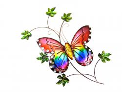 Metal Wall Art - Butterfly on Branch