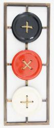 Metal Wall Art - Button Abstract