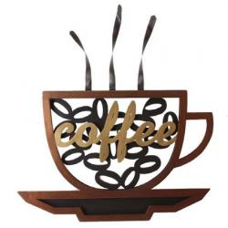 Metal Wall Art - Coffee Cup Word And Saucer