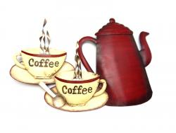 Metal Wall Art - Coffee Pot And Cups