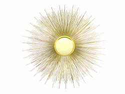 Metal Wall Art - Gold Sunburst Mirror