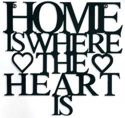 Metal Wall Art - Home Is Where The Heart Is Sign