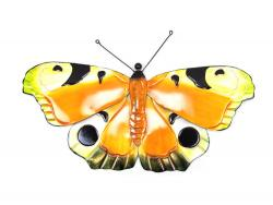 Metal Wall Art - Large Colour Butterfly