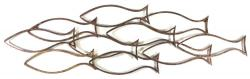 Metal Wall Art - Large Fish Shoal School Outline