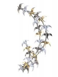 Metal Wall Art - Large Flying Swallow Birds