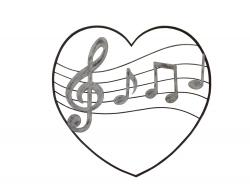 Metal Wall Art - Love Music Heart