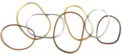 Metal Wall Art - Metallic Hoops