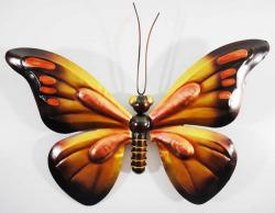 Metal Wall Art - Orange Butterfly