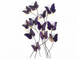 Metal Wall Art - Purple Haze Butterflies