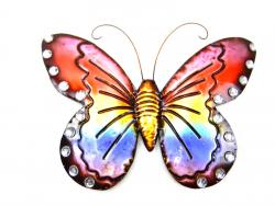 Metal Wall Art - Rainbow Butterfly