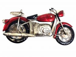Metal Wall Art - Red Motorcycle