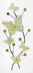 Metal Wall Art - Rustic Vintage Butterfly Bunch