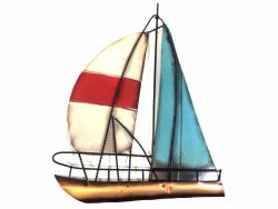 Metal Wall Art - Sailing Boat
